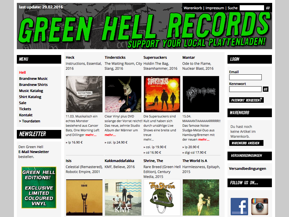 Screenshot Green Hell Records