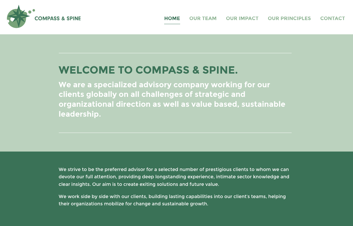 Website Compass & Spine
